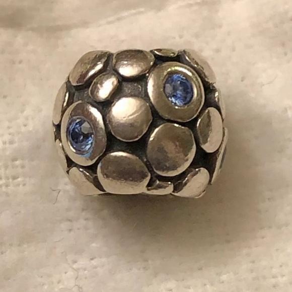 Pandora Jewelry - PANDORA Blue Bubbles Charm CZ 925 Retired